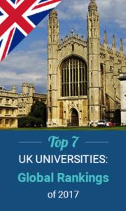 Top 7 UK Universities Global Rankings of 2017